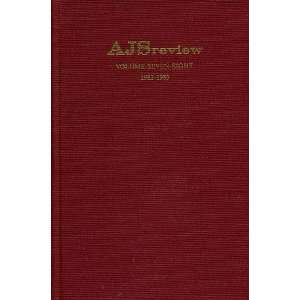 AJS Review Volume Seven Eight 1982 1983 Frank Talmage