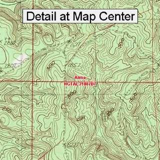 USGS Topographic Quadrangle Map   Alma, Alabama (Folded