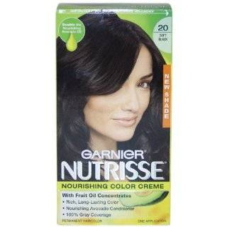 Garnier Nutrisse Level 3 Permanent Creme Haircolor, Black