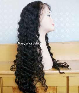 100% Indian Remy Human Hair Wig 18 Full Lace Wavy