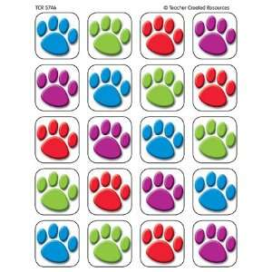 20 Pack TEACHER CREATED RESOURCES COLORFUL PAW PRINTS 120