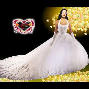 New White Ivory Wedding Dress/Bridal Gowns Custom Plus Size4 6 8 10