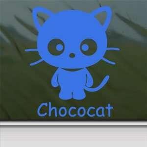 CHOCOCAT CAT KITTEN Blue Decal Car Truck Window Blue