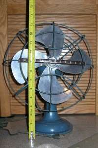 BLUE WESTINGHOUSE ROTATING ART DECO ELECTRIC FAN MODEL A010