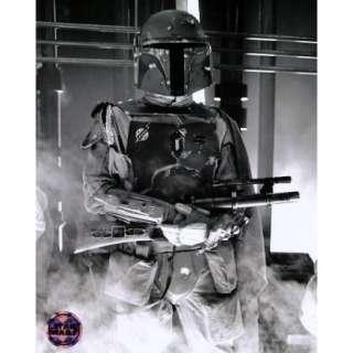 Star Wars Boba Fett Black and White Print