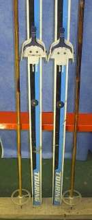 Cross Country 79 Skis 3 pin 205 cm +Poles KUUSISTO