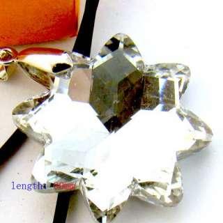 Spark Colorful Swarovski Crystal Snowflake Pendant Necklace Top