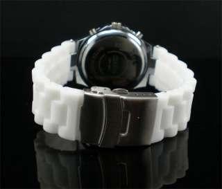 Brand Silicon Bling Crystal Men Lady Quartz Wrist Watch
