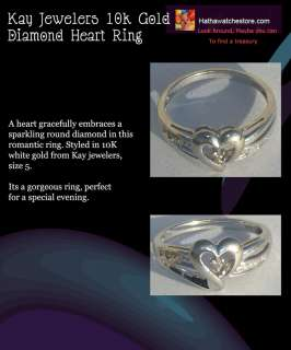 KAY Jewelers 10K White Gold Diamond Heart Ring