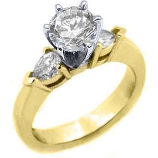 CARAT WOMENS DIAMOND ENGAGEMENT WEDDING RING ROUND CUT PEAR SHAPE