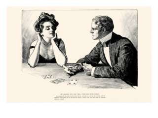 Of Course You Can Tell Fortunes With Cards Posters by Charles Dana