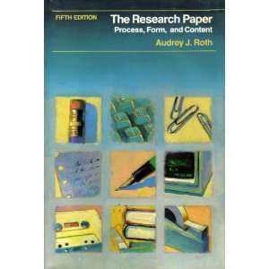 The research paper: Process, form, and content