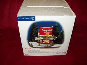 NEW DEPARTMENT 56 SNOW VILLAGE CAMPBELLS SOUP COUNTER
