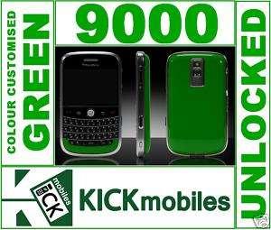 BNIB 3G BLACKBERRY BOLD 9000 CUSTOMISED GREEN UNLOCKED