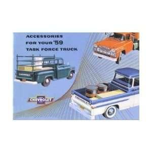 1959 CHEVROLET TRUCK Accessories Sales Brochure Book