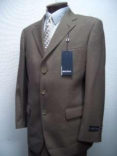 MENS SB BROWN WOOL BLEND DRESS SUIT SIZE 42L NEW SUITS