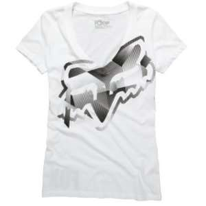 FOX Racing Juniors 54696 ACUTE V Neck Tee Shirt White L