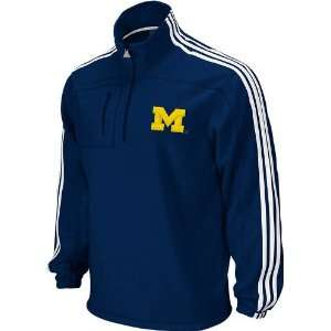Michigan Wolverines Adidas Navy 1/4 Zip Primary Logo