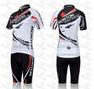 New 2012 Women Cycling Bicycle Bike Comfortable Sport Jersey + Shorts