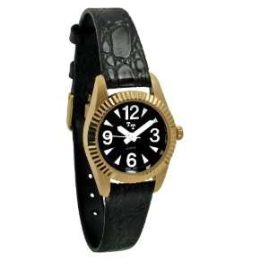 Tel Time Low Vision Watch Womens with Leather Band Health