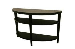 CARISSA oval BLACK MODERN sofa/console TabLe WooD