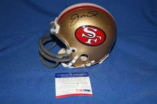 2ad2e36fcf3 Joe Montana signed Mini Helmet PSA DNA COA 49ers M74278 on PopScreen