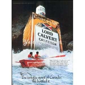 1980 Vintage Ad Calvert Dist. Co. The unique spirit of