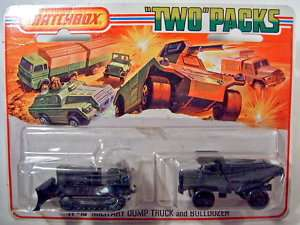 TP16 Military Dump Truck & Bulldozer olive drab