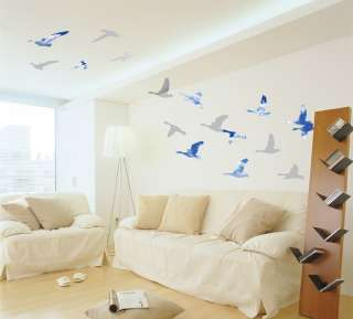 Cloud Bird Formation Instant Art Decor Removable Wall Sticker Decal