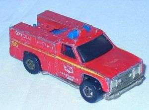 1974 Hot Wheels Wheel Emergency Unit Truck Diecast RARE