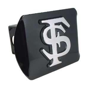 Florida State University Seminoles Black with Chrome FS Emblem NCAA
