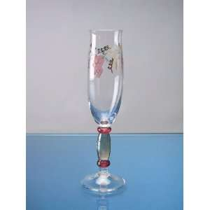 Grape Vine Pattern   Georgio Design   6 Oz Champagne Flute Glasses