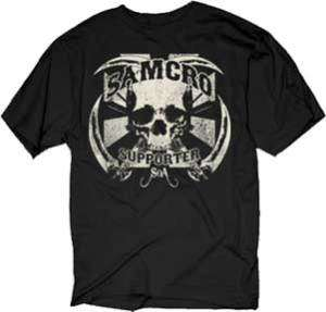 SONS OF ANARCHY Samcro Supporter M XXXL tee t Shirt NEW SOA