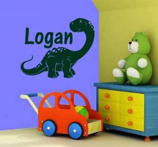 Personalized Dinosaur & Name Wall Decal Sticker 17x20