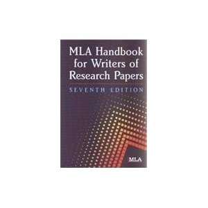 Mla Handbook for Writers of Research Paper (9788176710619): Mla: Books