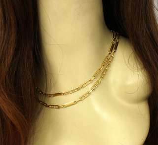 LONG 18K SOLID GOLD 35 LONG LINK CHAIN NECKLACE
