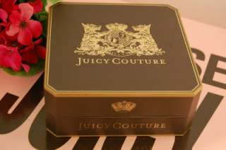 New in Box Juicy Couture Silver Pave Crystals Heart Starter Charm