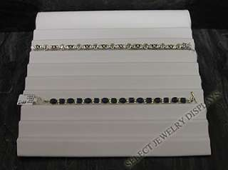 NEW White Leather Bracelet Slotted Ramp Jewelry Display