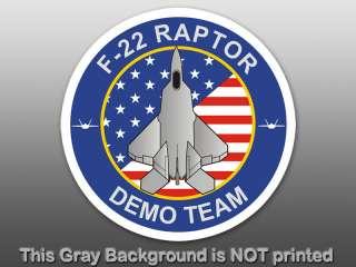 Round F22 Raptor Demo Team Sticker decal logo air force