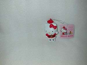 HELLO KITTY IN SANTA OUTFIT BLOW MOLD ORNAMENT NEW
