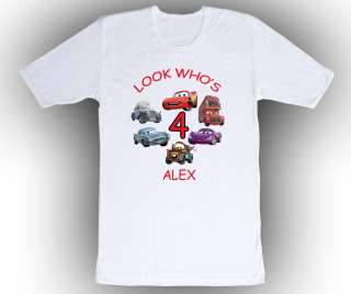 Personalized Custom Cars Birthday T Shirt Gift Add Your Name