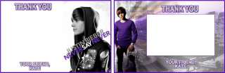 Justin Bieber Custom Birthday Party Invitations & Favor