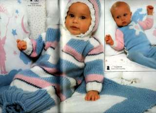Phildar Knitting Crochet Pattern Baby Layette Blanket