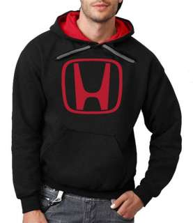 Logo Black Hoodie Red Hood Car Racing Flock Print Hooded Sweatshirt