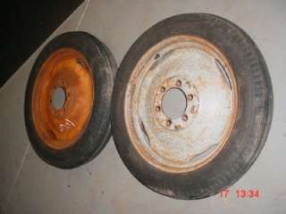 TWO 8N 9N FORD TRACTOR FRONT 400 19 TIRES & RIMS NAA JUBILEE |