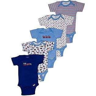 Baby Boys Short Sleeve Onesies Five Pack  Gerber Baby Baby & Toddler