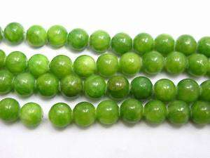 50pcs Round GREEN Gemstone Stone Loose Beads 8mm AVTC21
