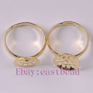 FREE SHIP 100pcs Gold Plated Adjustable Ring ER6238