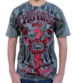 Ecko Unltd Blazin Griffin T Shirt   Pirat Grey Hip hop urban street
