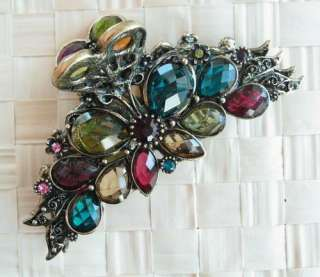 SWAROVSKI CRYSTAL BIG BUTTERFLY HAIR CLAW CLIP 874 VINTAGE ACCESSORY